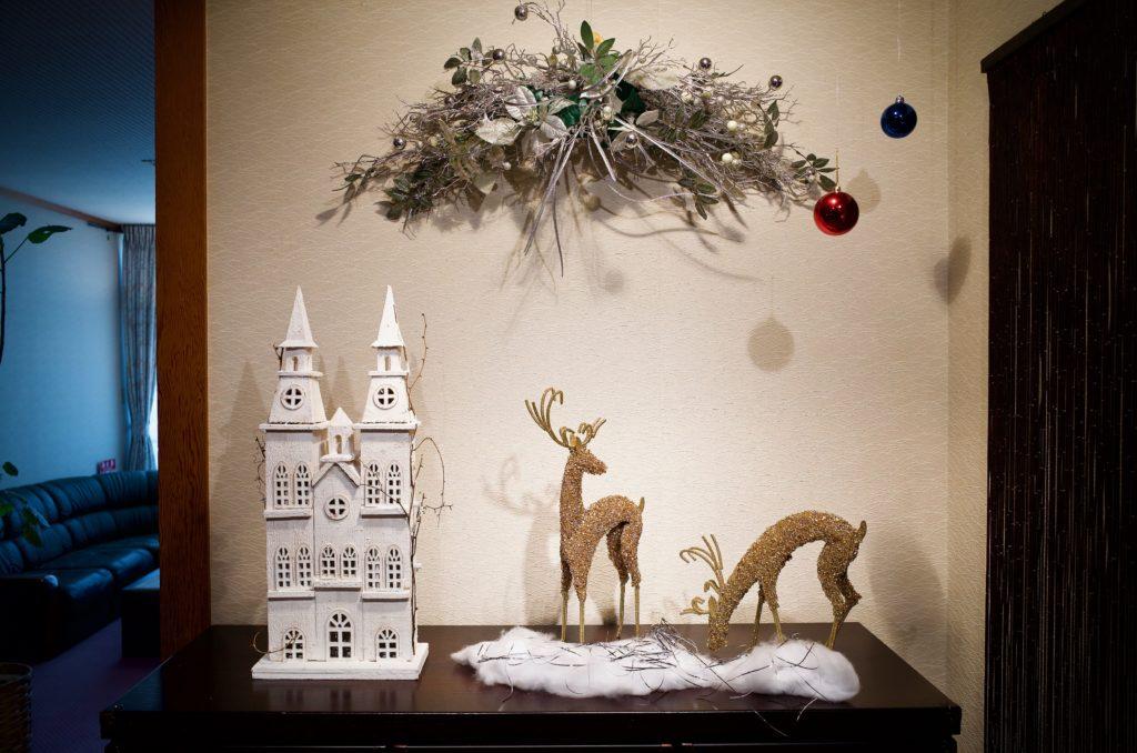 クリスマスの飾り付けを致しました